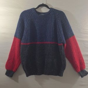 Other - Vintage Knit Red, Green, & Blue Sweater